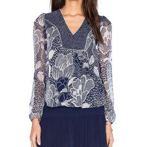 Diane von furstenberg maslyn silk top size 2